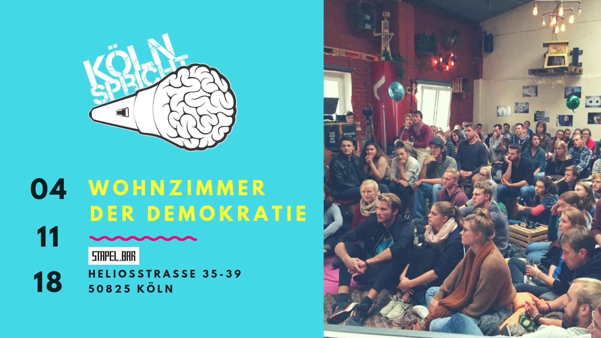 Köln spricht am 04.11.2018 @ Stapelbar