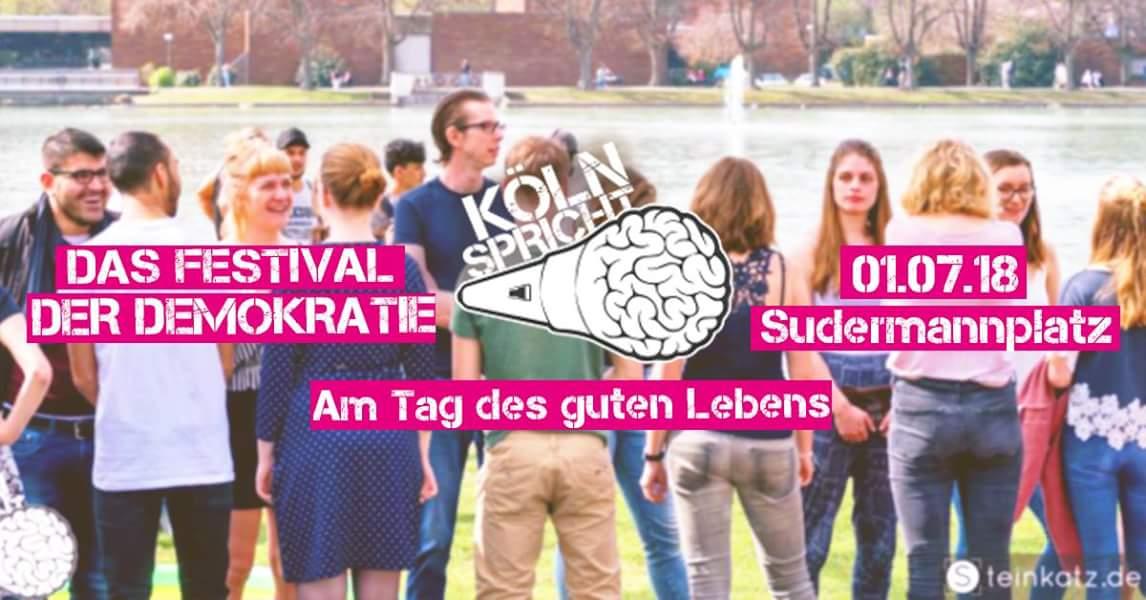 Köln spricht am 01.07.2018 @Sudermannstraße