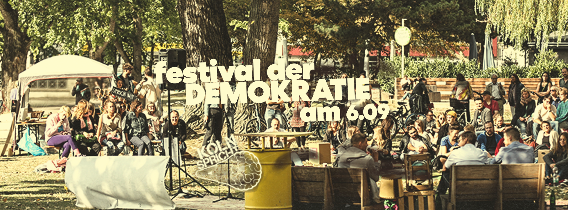 Das Festival der Demokratie am 06.09.2020 am Aachener Weiher