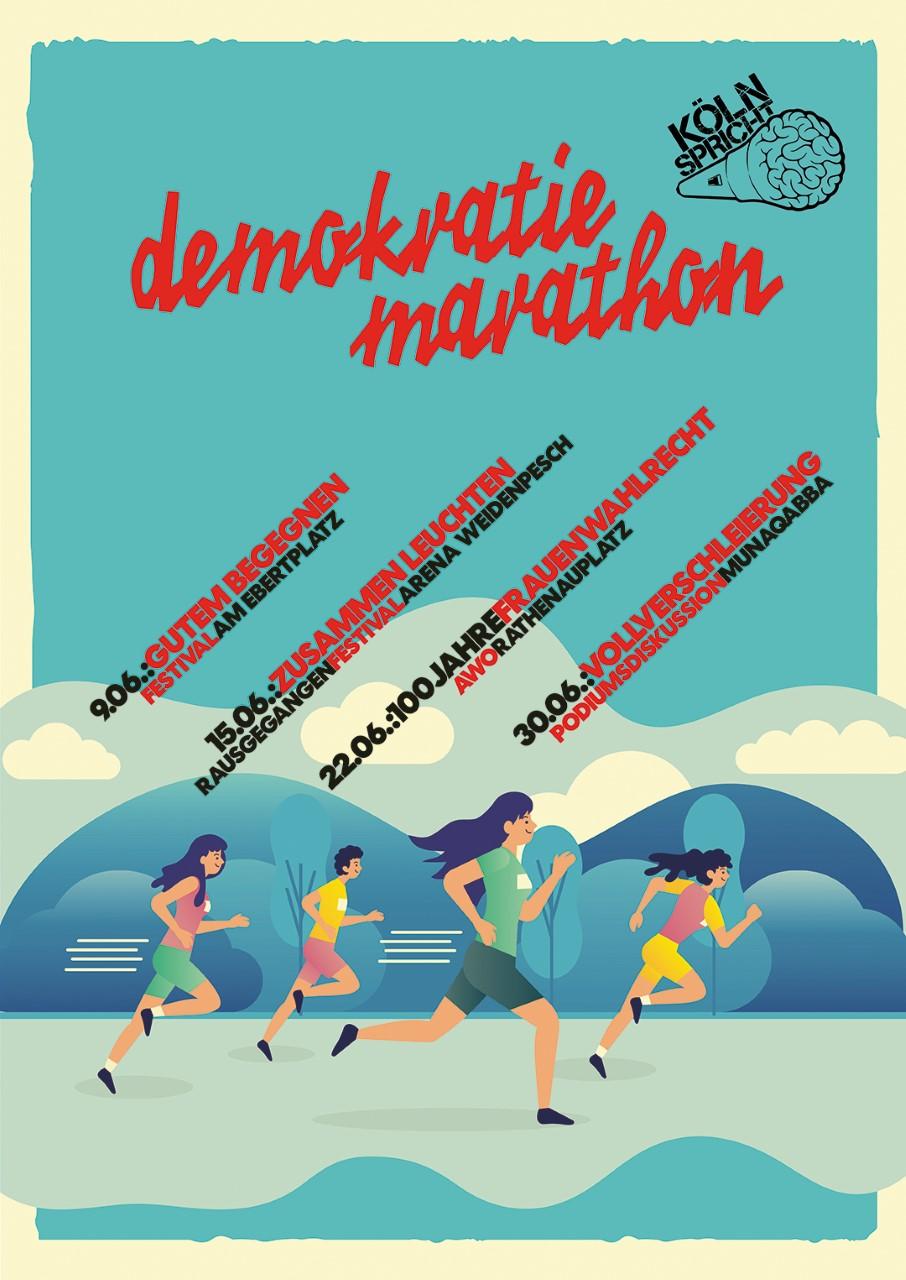Köln spricht im Juni – der Demokratie-Marathon (Alle Daten)